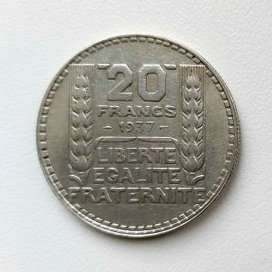 20 Francs TURIN 1937
