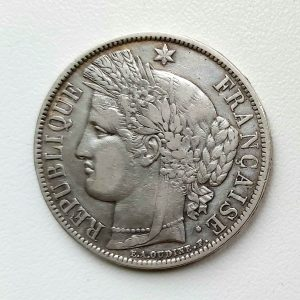 5 Francs CERES 1870A avec légende