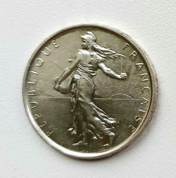5 FRANCS ARGENT SEMEUSE 1969