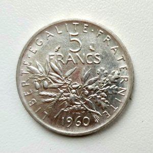 5 Francs Argent SEMEUSE