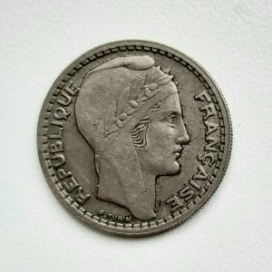 10 Francs TURIN 1945 Rameaux courts