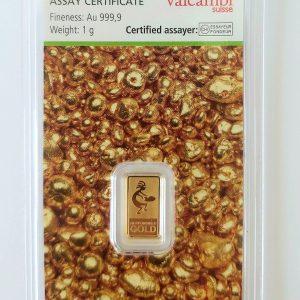 Lingot 1g or fin Green Gold