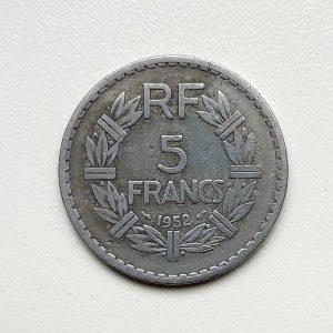 5 Francs LAVRILLIER 1952